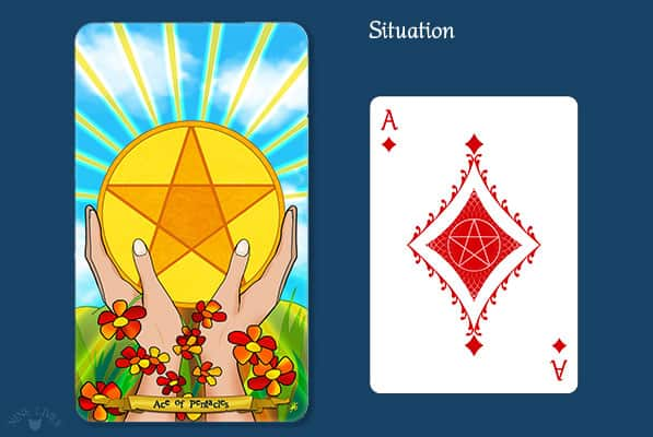 Comparing Ace of Pentacles vs Ace of Diamonds