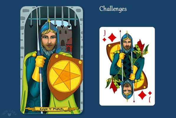 Comparing Knight of Pentacles vs Jack of Diamonds