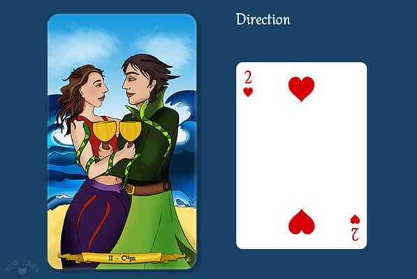 Comparing 2 of Cups vs 2 of Hearts
