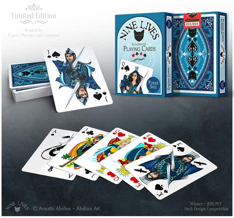 Limited edition, custom designed playing cards printed by EPCC